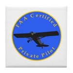 Private Pilot - Classic Tile Coaster