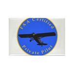 Private Pilot - Classic Rectangle Magnet (100 pack
