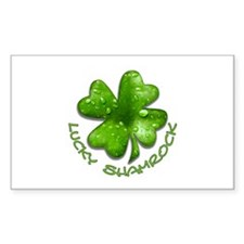 Lucky Shamrock Rectangle Decal