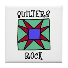 Quilters Rock Tile Coaster
