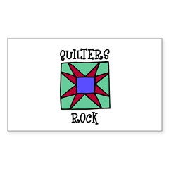 Quilters Rock Rectangle Decal