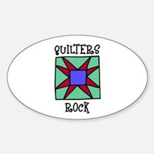 Quilters Rock Oval Decal