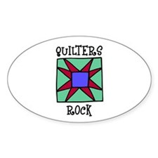Quilters Rock Oval Stickers
