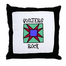 Quilters Rock Throw Pillow