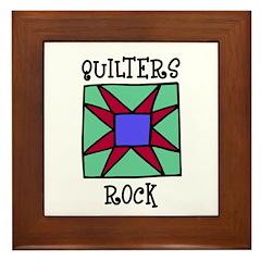 Quilters Rock Framed Tile
