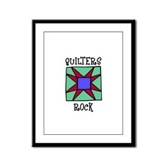 Quilters Rock Framed Panel Print