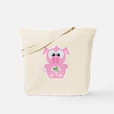 Shamrock St. Patrick's Day Piggy Pig Tote Bag
