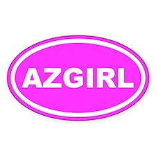AZ GIRL Arizona Pink Euro Oval Decal