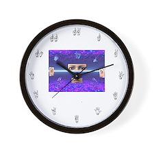 Wall Clock - fingerspelled numbers