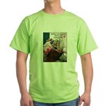 Quilters are Materialistic Green T-Shirt