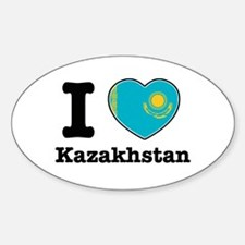 I love Kazakhstan Oval Decal
