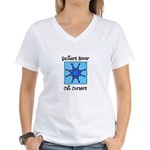 Quilters Never Cut Corners Women's V-Neck T-Shirt
