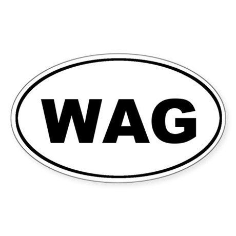 WAG the Dog Euro Oval Sticker