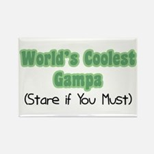 World's Coolest Gampa Rectangle Magnet