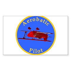 Aerobatic Pilot - Eagle Rectangle Decal