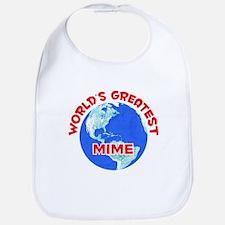 World's Greatest Mime (F) Bib