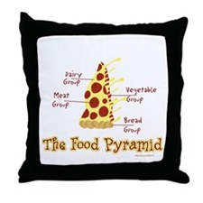 Pizza Pyramid Throw Pillow