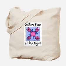 Quilters Know the Angles Tote Bag