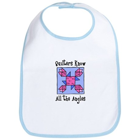 Quilters Know the Angles Bib