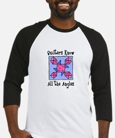 Quilters Know the Angles Baseball Jersey
