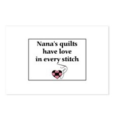 Nana's Quilts Have Love Postcards (Package of 8)