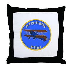 Aerobatic Pilot - Stearman Throw Pillow