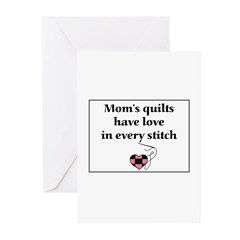 Mom's Quilts Have Love Greeting Cards (Pk of 20)
