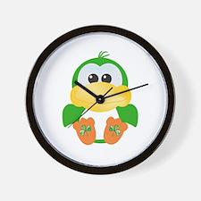 Cute St. Patty's Day Irish Green Ducky Wall Clock