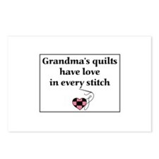 Grandma's Quilts Have Love Postcards (Package of 8