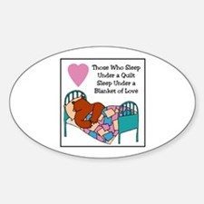 Quilt - Blanket of Love Oval Stickers