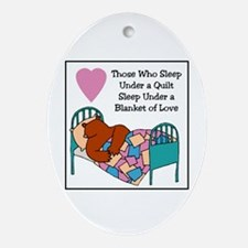 Quilt - Blanket of Love Oval Ornament
