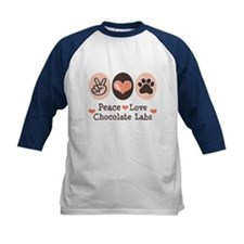 Peace Love Chocolate Lab Tee