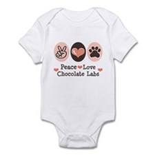 Peace Love Chocolate Lab Infant Bodysuit