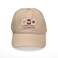 Peace Love Chocolate Lab Baseball Cap