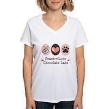 Chocolate lab Womens V-Neck T-shirts