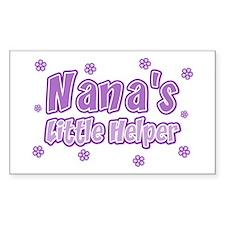 Purple Nana's Little Helper Rectangle Decal