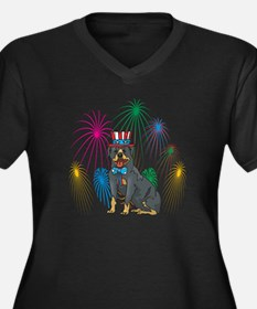 4th of July Fireworks Rottweiler Women's Plus Size