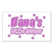 Pink Nana's Little Helper Rectangle Decal