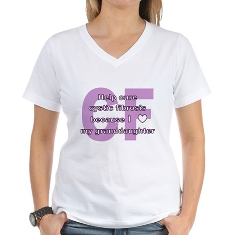 *heart* granddaughter Women's V-Neck T-Shirt