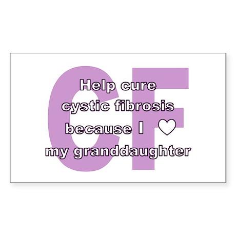 *heart* granddaughter Rectangle Sticker
