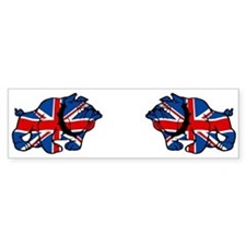 British Bulldog Union Jack Bumper Bumper Bumper Sticker