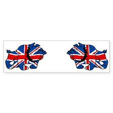 British Bulldog Union Jack Bumper Bumper Sticker