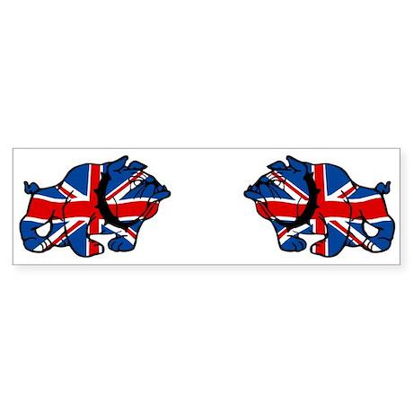 British Bulldog Union Jack Bumper Sticker