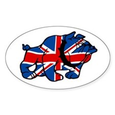British Bulldog Union Jack Oval Decal
