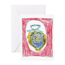 Costa Rica Emblem Greeting Card