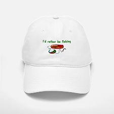 I'd Rather Be Fishing Baseball Baseball Cap