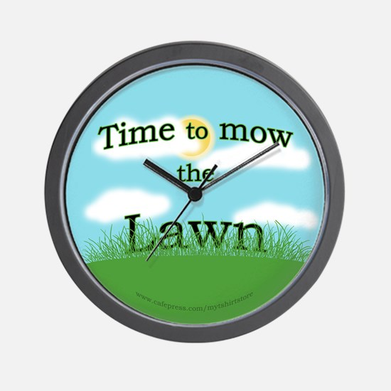 Time to Mow the Lawn Wall Clock