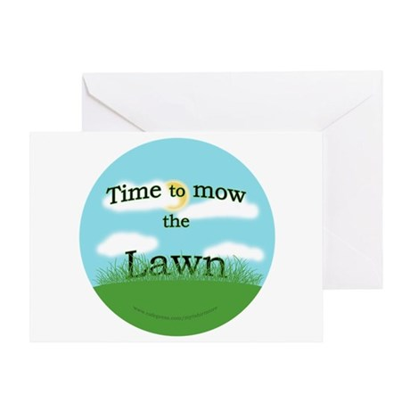 Time to Mow the Lawn Greeting Card