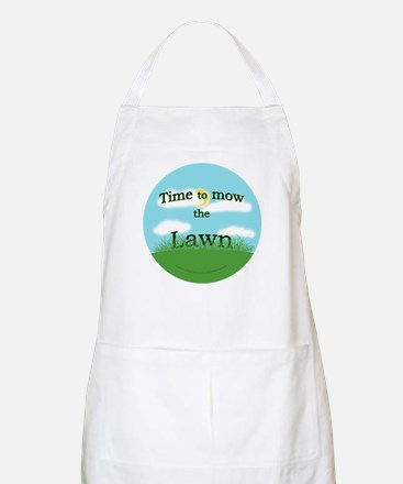 Time to Mow the Lawn BBQ Apron