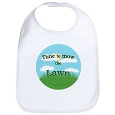 Time to Mow the Lawn Bib